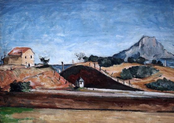 Cezanne, Paul: The Railway Cutting. Landscape/Scenic Fine Art Print/Poster. Sizes: A4/A3/A2/A1 (00103)